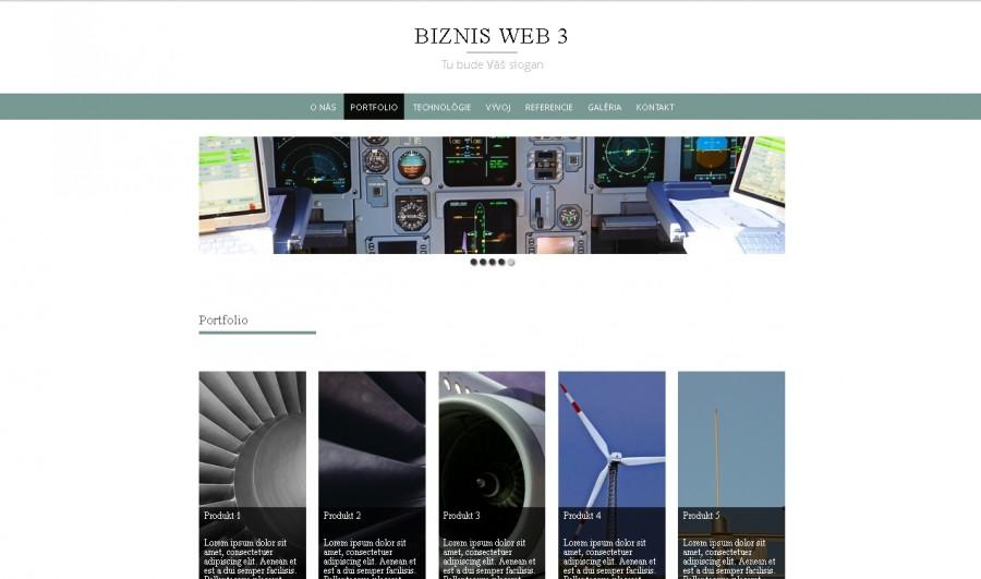 Ukážka web stránky