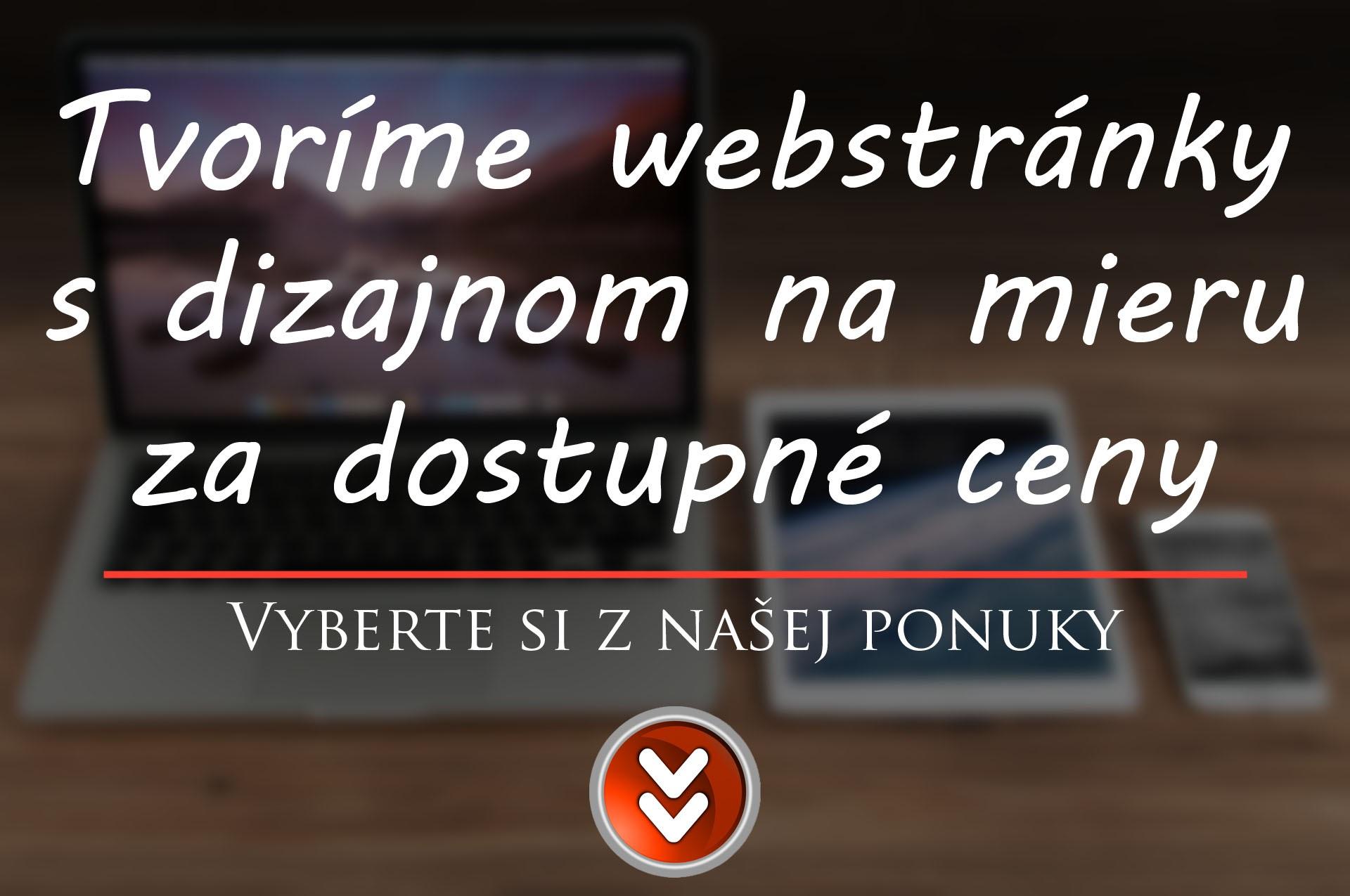 webstránky lacno