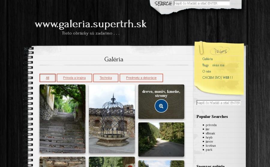 Ukážka web stránky, obrázková galéria.