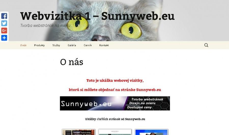 web vizitka